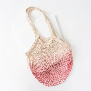 Camp Collection Dip Dyed Market Tote: Pink